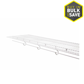 Rubbermaid FreeSlide 8-ft L x 16-in D White Wire Shelf