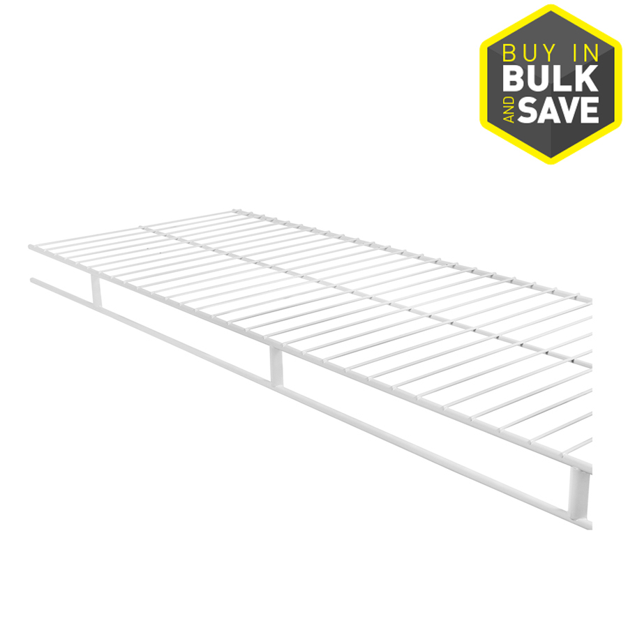 Shop Rubbermaid Wardrobe 12 Ft X 12 In White Wire Shelf At