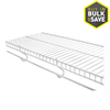 Rubbermaid FreeSlide 12-ft L x 12-in D White Wire Shelf