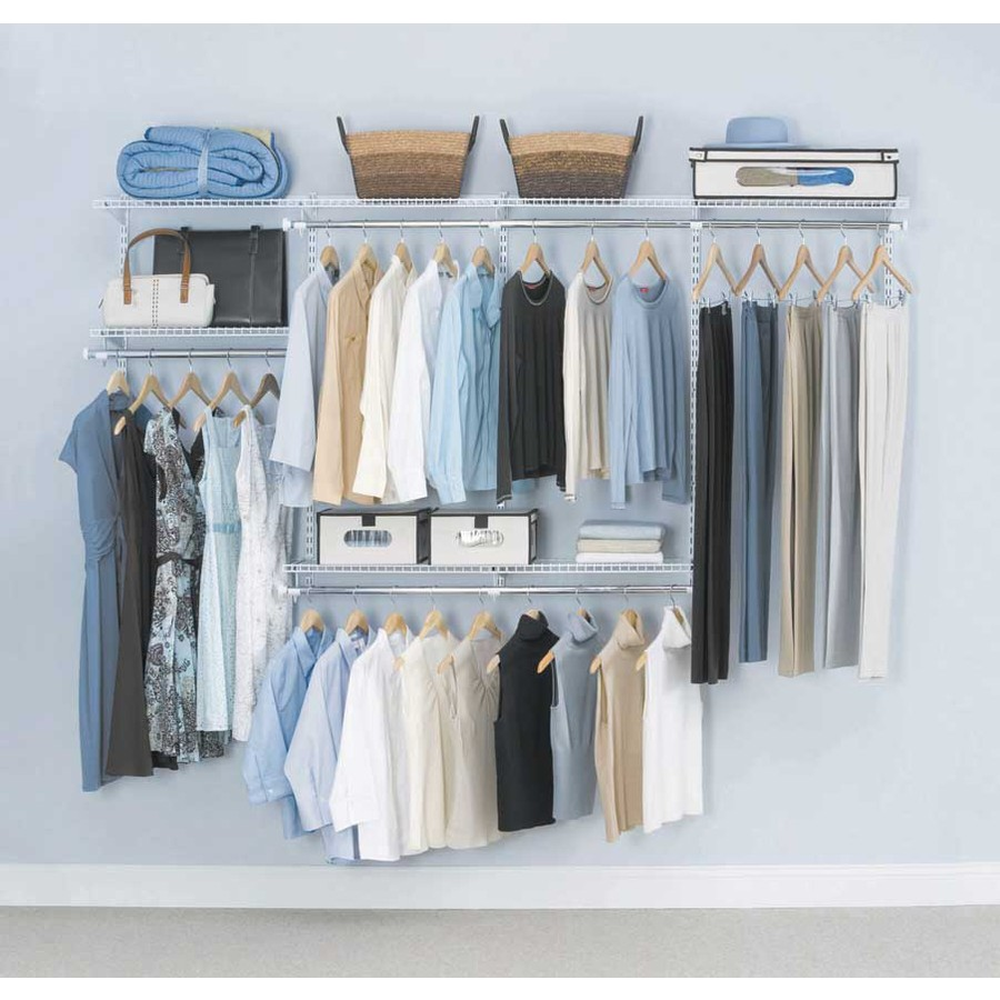 Shop Rubbermaid Homefree Series 4 Ft To 8 Ft White Adjustable Mount Wire Shelving Kits At Lowes Com