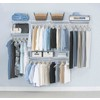 Rubbermaid 4-ft to 8-ft Custom Closet Kit