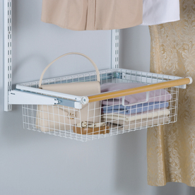 Rubbermaid HomeFree Series White Wire Sliding Basket
