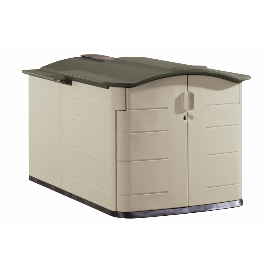 Shop Rubbermaid 60 In X 79 In X 54 In Olive Resin Outdoor Storage Shed At Low
