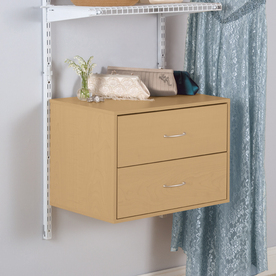 Rubbermaid HomeFree Series Maple Wood 2-Drawer Unit