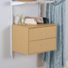 Rubbermaid Homefree Series Wood 2-Drawer Unit