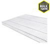 Rubbermaid TightMesh 12-ft L x 1-ft 8-in D White Wire Shelf
