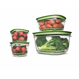 Rubbermaid 4-Piece Plastic Food Storage Containers
