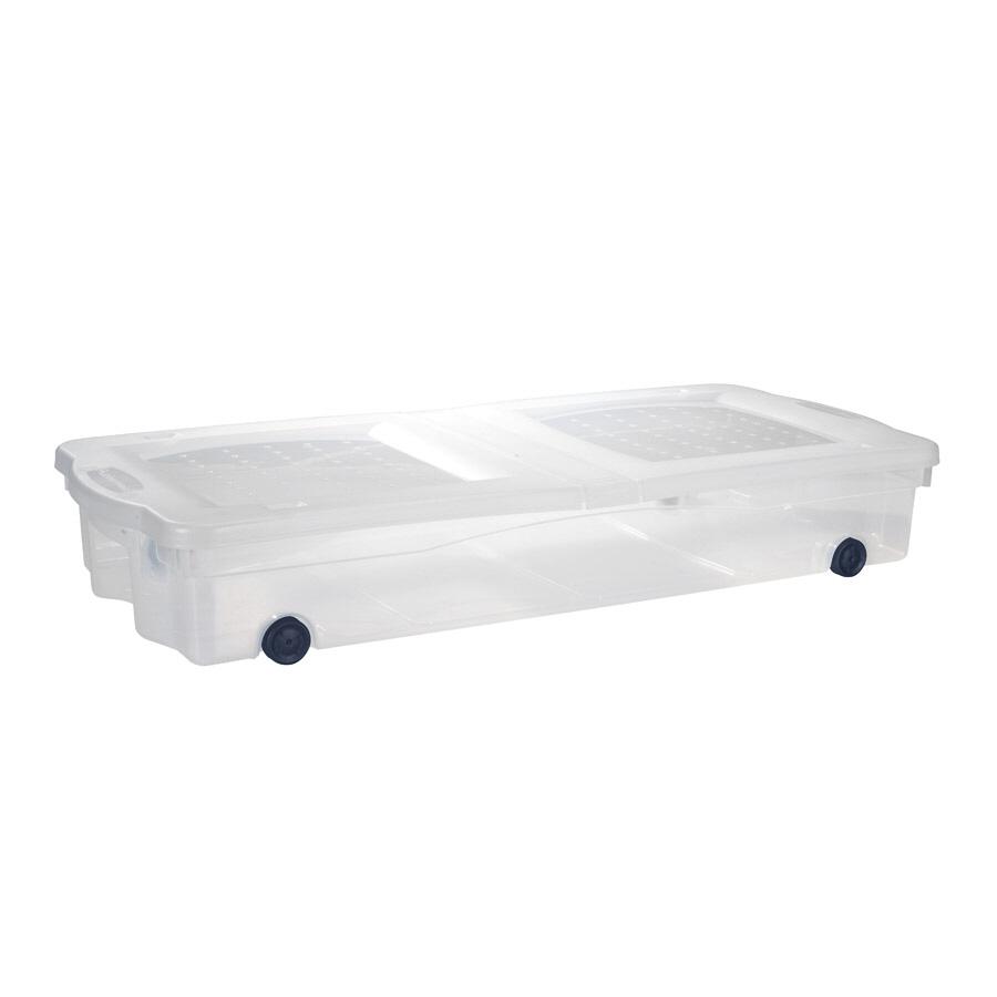 shop rubbermaid slimfit wheeled underbed box at. Black Bedroom Furniture Sets. Home Design Ideas