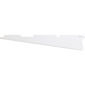 Rubbermaid FastTrack White Bracket (Common: 0.5-in x 3.15-in x 16-in; Actual: 0.5-in x 3.15-in x 17.125-in)