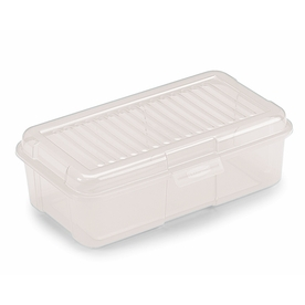 Rubbermaid 6-Quart Clear Tote with Standard Snap Lid