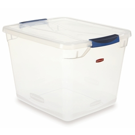Rubbermaid Clever Store 30-Quart Clear Tote with Latching Lid