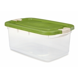 Rubbermaid Roughneck 50-Quart Clear General Tote with Locking Latch Lid