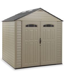 Rubbermaid Roughneck Gable Storage Shed (Common: 7-ft x 7-ft; Interior Dimensions: 6.75-ft x 6.75-ft)
