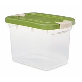 Rubbermaid Roughneck 19-Quart Clear General Tote with Locking Latch Lid
