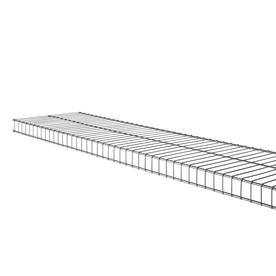 Shop Rubbermaid Linen 6-Ft x 12-in Nickel Wire Shelf at Lowes.com