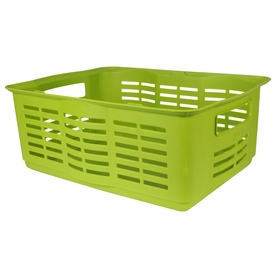 Rubbermaid Large Stackable Basket, Spinach Green