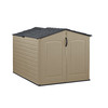Rubbermaid Roughneck Slide Lid 4-ft x 6-ft Gable Storage Shed (Actuals 4.6-ft x 6.33 Feet)