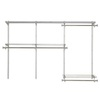 Rubbermaid 3-ft to 6-ft Satin Nickel  Closet Kit