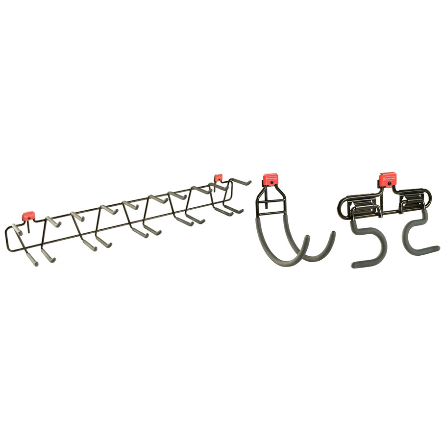 Shop Rubbermaid Black Steel Storage Shed Tool Hanger Rack at Lowes.com