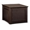 Rubbermaid 28.5-in L x 28.5-in W 56-Gallon Dark Basketweave Resin Deck Box