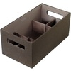 Rubbermaid 6.25-in W x 5-in H Espresso Fabric Bin