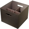 Rubbermaid 12.05-in W x 9.65-in H Espresso Fabric Bin