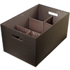 Rubbermaid Bento 12.5-in W x 10-in H x 19.5-in D Espresso Fabric Bin