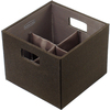 Rubbermaid 5.63-in W x 4.69-in H Espresso Fabric Bin
