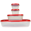 Rubbermaid 4-Piece Plastic Food Storage Container