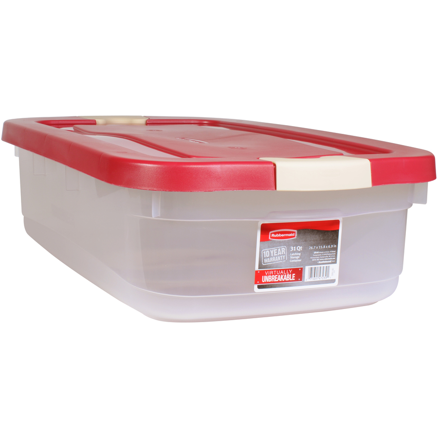 Shop Rubbermaid Roughneck 31-Quart Clear Tote with Latching Lid at