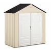 Rubbermaid Gable Storage Shed (Common: 7-ft x 3-ft; Actual Interior Dimensions: 6.75-ft x 3.25-ft)