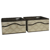Rubbermaid HomeFree Series Beige Canvas Basket Set