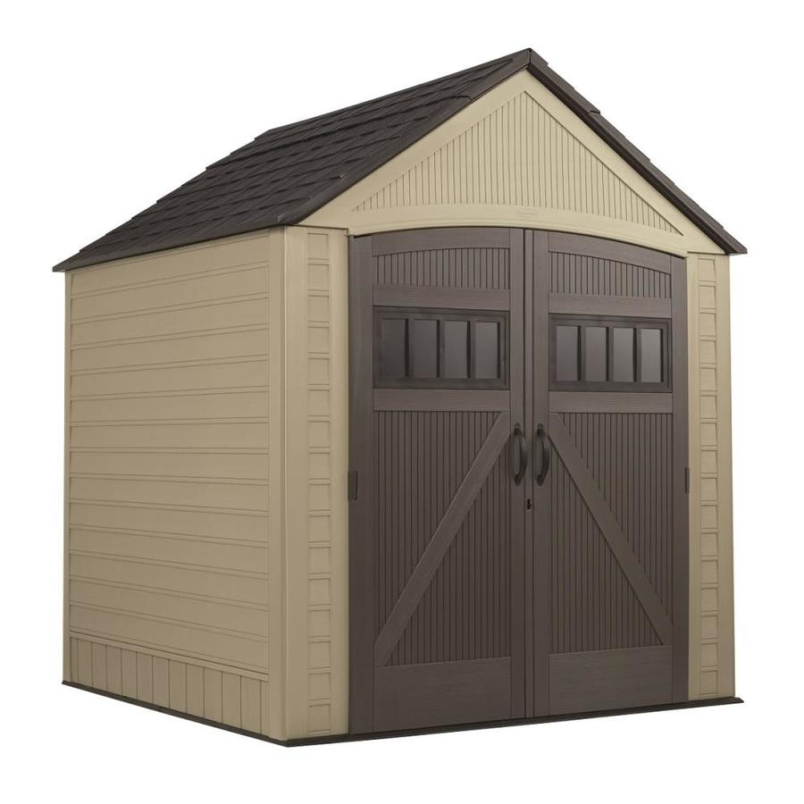 Shop Rubbermaid Roughneck Gable Storage Shed (Common: 7-ft