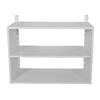 Rubbermaid HomeFree White Wood 3-Shelf Unit