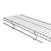Rubbermaid FreeSlide 6-ft L x 12-in D Satin Nickel Wire Shelf