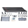 Rubbermaid FastTrack Garage 18-Piece Black Steel Storage Rail System