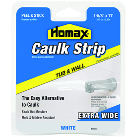 Homax White Tubs and Floors Caulk Strip