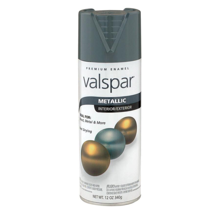 Shop Valspar 12 Oz Metallic Silver Spray Paint At