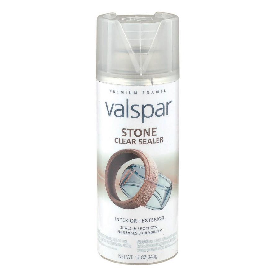 shop valspar 12 oz stone clear spray paint at. Black Bedroom Furniture Sets. Home Design Ideas