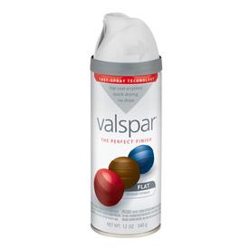 shop valspar 12 oz white flat spray paint at. Black Bedroom Furniture Sets. Home Design Ideas