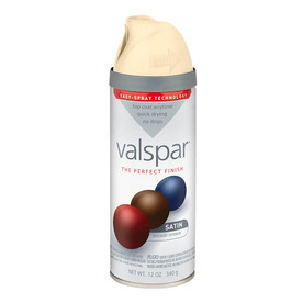 Shop Valspar 12 Oz Churchill Hotel Vanilla Satin Spray Paint At Lowes Com