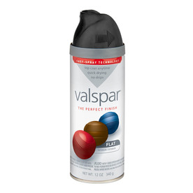 Valspar Black Indoor/Outdoor Spray Paint
