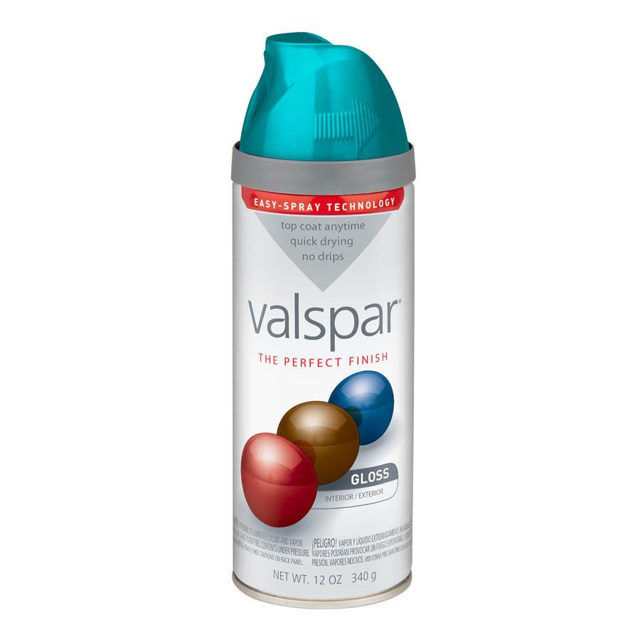 Shop Valspar 12 Oz Exotic Sea Spray High Gloss Spray Paint At