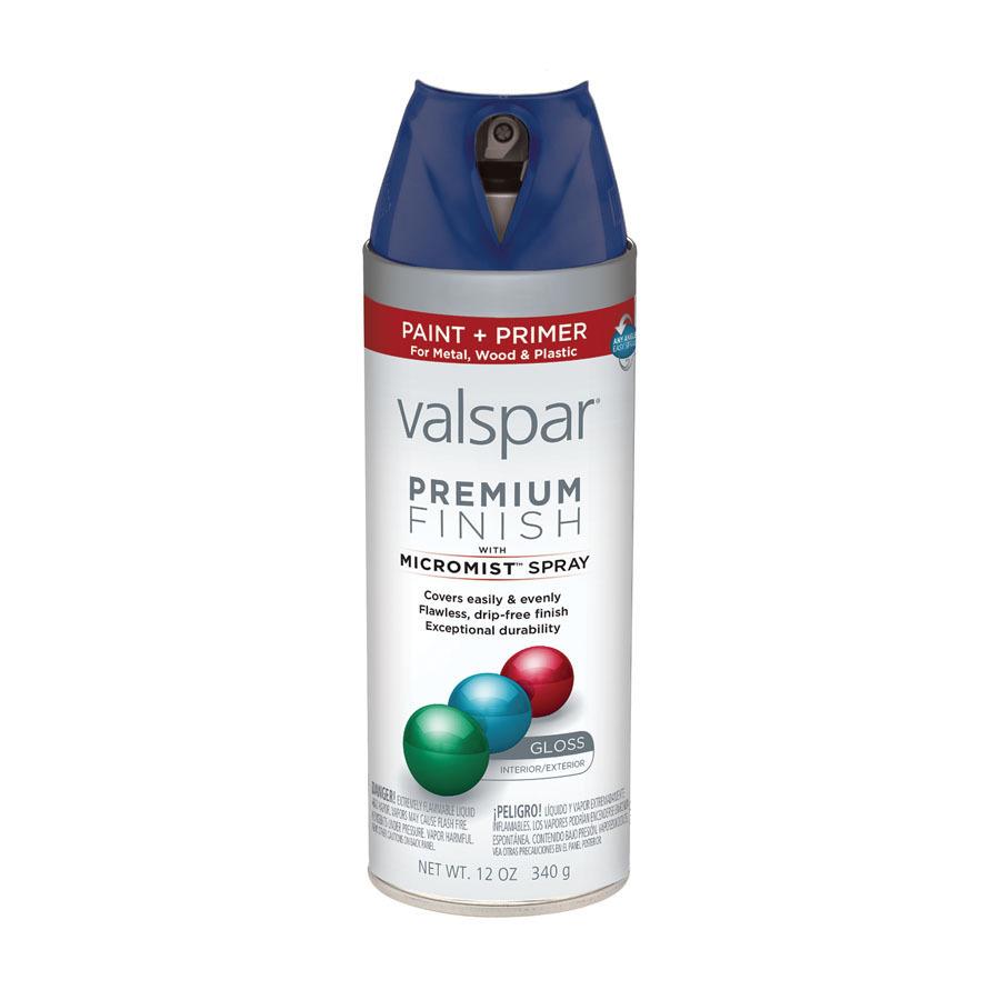 Shop Valspar 12 Oz Royal Blue Gloss Spray Paint At Lowes Com