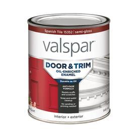 shop valspar door and trim enamel oil paint actual net contents 32. Black Bedroom Furniture Sets. Home Design Ideas