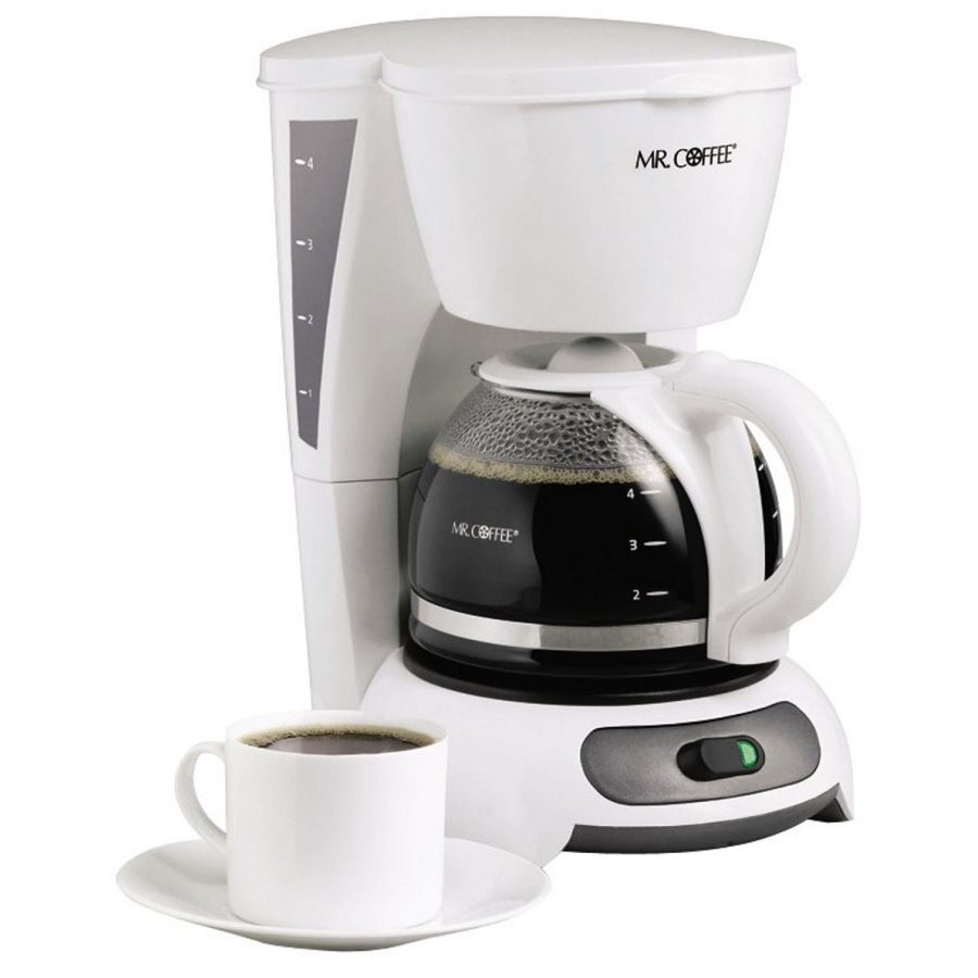 Shop Mr. Coffee White 4-Cup Coffee Maker at Lowes.com