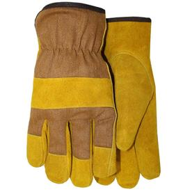MidWest Quality Gloves, Inc. Large Men's Leather Palm Work Gloves 435FL