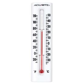 AcuRite Indoor/Outdoor White Thermometer