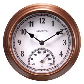 AcuRite Indoor/Outdoor Bronze Thermometer with Clock