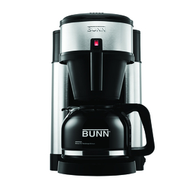 BUNN Stainless Steel and Black 10-Cup Coffee Maker